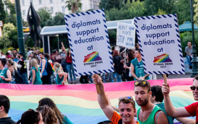 Diplomats from 32 countries support Athens Pride 2018